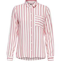 Only Striped Long Sleeved Shirt White/Cloud Dancer