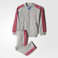 Adidas Trefoil Track Suit - Medium Grey Heather / Easy Pink / Bold Pink (BK4630)