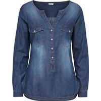 Only Detailed Denim Shirt Blue/Medium Blue Denim (15129969)