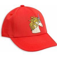 Mini Rodini Unicorn Emb Cap - Red