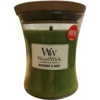 Woodwick Bergamot & Basil Doftljus