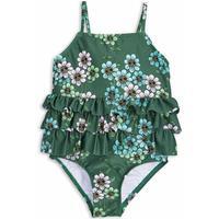 Mini Rodini Daisy Frill Swimsuit - Dark Green