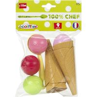 Ecoiffier Ice Cream Cone Set with Accessories