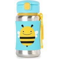 Skip Hop Zoo Stainless Steel Straw Bottle Brooklyn Bee