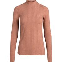 Pieces Turtleneck Long Sleeved Blouse Brown/Copper Brown