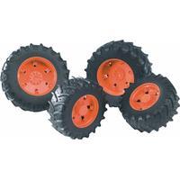 Bruder Tvillingehjul med orange fælger til Premium-Pro serie