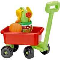 Ecoiffier Children's Pull Along Wagon with Accessories & Garden Theme