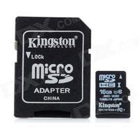 Consumer Electronics Kingston Micro SDHC / TF Memory Card w/ SD Adapter (16GB / Class 10)