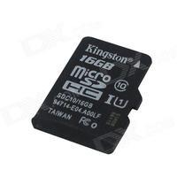 Consumer Electronics Genuine Kingston Micro SDHC Class 10 TF Card - Black (16GB)