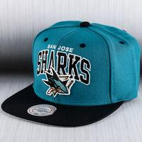 Mitchell & Ness San Jose Sharks Team Arch Snapback