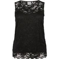 Junarose Lace Detailed Sleeveless Top Black/Black (21006579)
