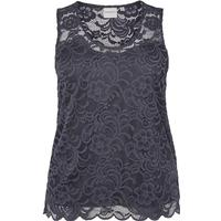 Junarose Lace Detailed Sleeveless Top Blue/Ombre Blue (21006579)