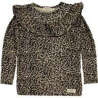 MarMar Bluse - Brun Leopard m. Flæser - 7 år (122) - MarMar Bluse