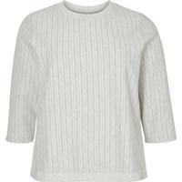 Junarose 3/4 Sleeved Blouse Grey/Light Grey Melange (21006260)