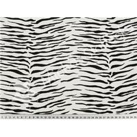 Stretch Jersey Zebra ränder i svartvitt