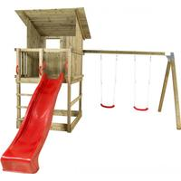 Plus Play Tower with Sloping Roof Swings Slide & Swing Seats 185280-5