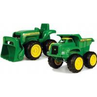 Tomy John Deere Mini Sandbox Tractor & Dump Truck Set