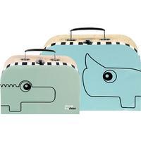 Done by Deer väska 2-pack, blue/green