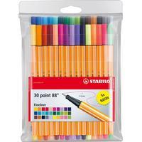 Stabilo Point 88 Fineliner Color Marker Pens 30-pack