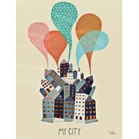Michelle Carlslund My City 30x40cm Affisch