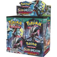 Pokémon Sun & Moon Guardians Rising Booster Display