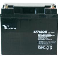 Vision Akkus Blybatteri Vision Akkus 6FM50DX Bly AGM 12 V 50 Ah
