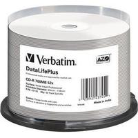Verbatim CD-R No ID Branded 700MB 52x Spindle 50-Pack