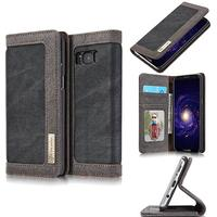 CaseMe Canvas Wallet PU Leather Stand Case (Galaxy S8 Plus)