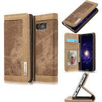 CaseMe Canvas Wallet PU Leather Stand Case (Galaxy S8)