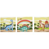 Teamson Fantasy Fields Dinosaur Kingdom Canvas Wall Art Set
