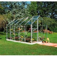 Halls Popular 106 6.2m² Alu+Glas Aluminium Drivhussokkel inkluderet Ja