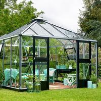Juliana Oase 13.5m² Alu+Glass Aluminium, Antracit Drivhussokkel inkl. Inkluderet
