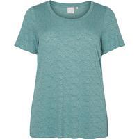 Junarose Short Sleeved Blouse Blue/Oil Blue