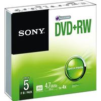 Sony DVD+RW 4.7GB 4x Jewelcase 5-Pack