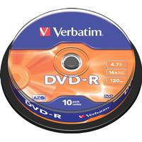 Verbatim DVD-R 4.7GB 16x Spindle 10-Pack