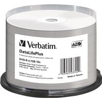 Verbatim DVD-R No ID Brand 4.7GB 16x Spindle 50-Pack Wide Inkjet