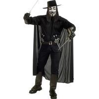 Vegaoo V för Vendetta Maskeraddräkt Man Medium (40)