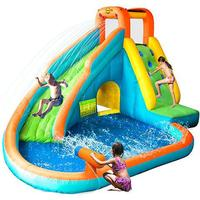 Happyhop Island Water Slide with Badebassin & Vandkanon