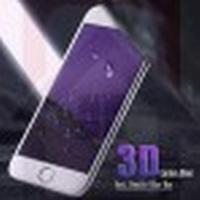 IPHONE 7 FULL SIZE PANSERGLAS PURPLE BLUE RAY 3D HVID