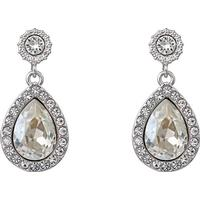 Lily and Rose Miss Amy Brass Earrings w. Transparent Cubic Zirconium - 2.2cm (61001)