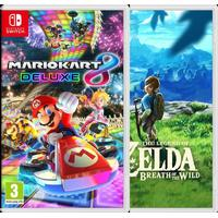 Nintendo The Legend of Zelda - Breath of the Wild + Mario Kart 8 Deluxe Bundle
