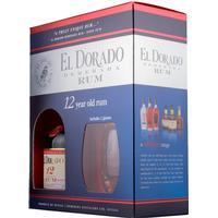El Dorado 12 år Rom, Guyana, 40% inkl. 2 glas