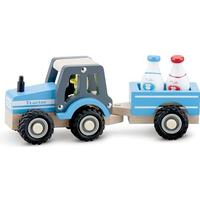 New Classic Toys Tractor with Trailer & Milk Bottles