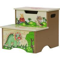 Teamson Fantasy Fields Dinosaur Kingdom Step Stool with Storage