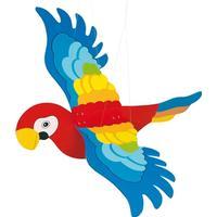 Wooden Swing Figure Parrot