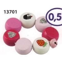 Detoa Der kleine Maulwurf 13701 Holz-Rassel rosa mit Glöckchen
