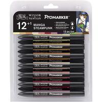 Winsor & Newton ProMarker Manga Steampunk 12+1-pack