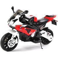 Børne el motorcykel BMW S1000R motorcykel 2x12V med gummihjul