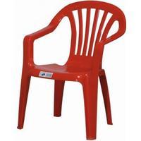 "PROGARDEN Kinder-Stapelsessel ""Sedia Baby"", Kinder-Gartenstuhl, Kinder-Stapelstuhl, 38 x 38 x 52 cm, in rot, aus Kunststoff"