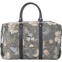 Ceannis Boston Bag Flower Linen - Black (013019980)